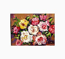 FLORAL BOUQUET OF ROSES COLORFUL ORIGINAL PAINTINGS FOR SALE T-Shirt