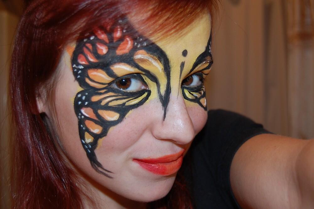 Monarch Facepaint by KasiaNowik