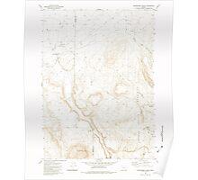 USGS Topo Map Oregon Whitehorse Ranch 282072 1982 24000 Poster