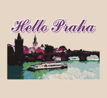 Beautiful praha castle& bridge art by cheeckymonkey