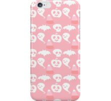 Pink Adorable Halloween Pattern iPhone Case/Skin
