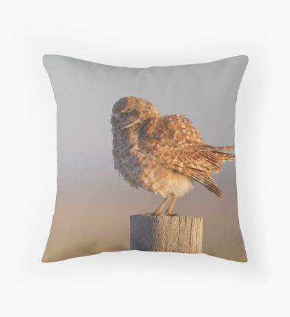 Puffing Up Throw Pillow