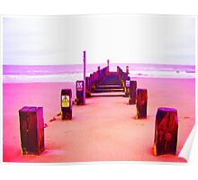 Out to Sea- Magenta Poster