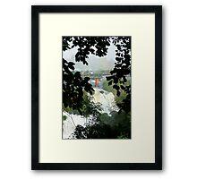 Above the falls, Brazil Framed Print