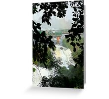 Above the falls, Brazil Greeting Card