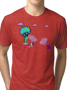 Unique funny cartoon about life Tri-blend T-Shirt