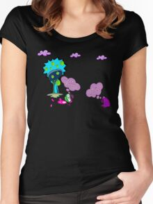 Unique funny cartoon about life Women's Fitted Scoop T-Shirt