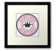 The jdm life badge - pink Framed Print