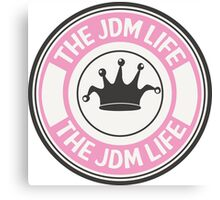 The jdm life badge - pink Canvas Print