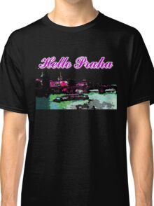 Beautiful Praha castle and karls bridge art Classic T-Shirt
