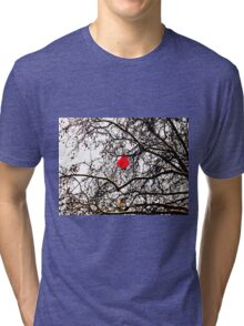 Deflated Red Balloon in a Tree Tri-blend T-Shirt