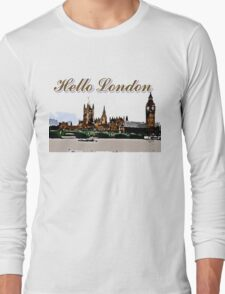 Beautiful London Bigben& Thames river art T-Shirt