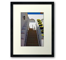 Steps in Light and Shadow Framed Print