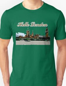 Beautiful London Bigben& Thames river art Unisex T-Shirt