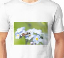 Halictidae Bee on Forget-Me-Nots Unisex T-Shirt