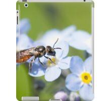 Halictidae Bee on Forget-Me-Nots iPad Case/Skin
