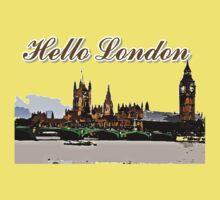 Beautiful London Bigben& Thames river art Kids Tee