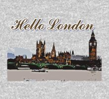 Beautiful London Bigben& Thames river art Baby Tee