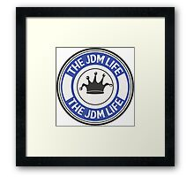 The jdm life badge - blue Framed Print