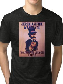 BioShock Infinite – Jeremiah Fink Wants YOU Poster Tri-blend T-Shirt
