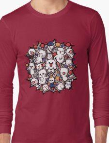 Final Fantasy Moogles - Pom Pom Party Long Sleeve T-Shirt