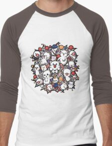 Final Fantasy Moogles - Pom Pom Party Men's Baseball ¾ T-Shirt