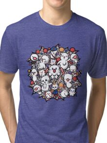 Final Fantasy Moogles - Pom Pom Party Tri-blend T-Shirt