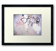 Dead Fish - Urban Art Framed Print