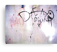 Dead Fish - Urban Art Canvas Print