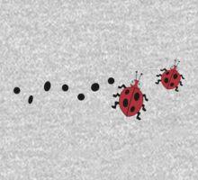 Unique cute ladybugs & black spot One Piece - Short Sleeve