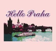 Beautiful Praha castle and karls bridge art Baby Tee
