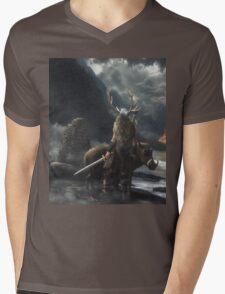 The Swarthy One || Surtr vs Freyr Mens V-Neck T-Shirt