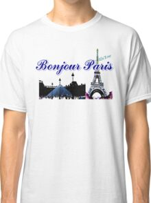 Beautiful architecture Luvoure museum ,Effel tower Paris france graphic art Classic T-Shirt