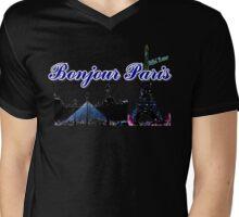Beautifil architecture Luvoure museum Paris france graphic art Mens V-Neck T-Shirt