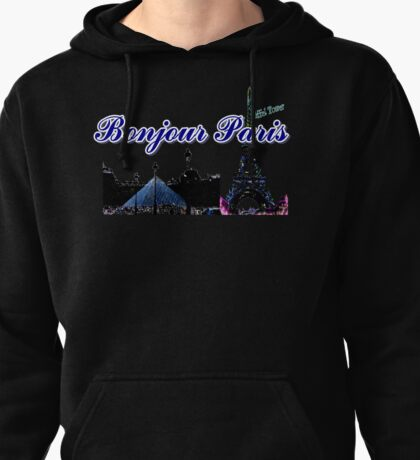 Beautiful architecture Luvoure museum,Effel tower  Paris france graphic art Pullover Hoodie