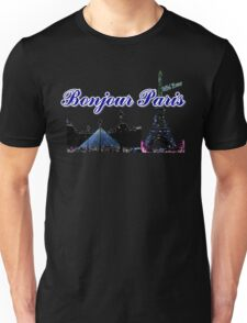 Beautiful architecture Luvoure museum,Effel tower  Paris france graphic art Unisex T-Shirt