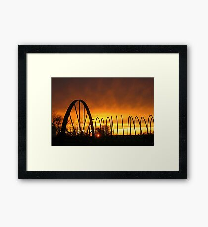 Hayrake SunFire Framed Print