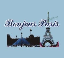 Beautiful Effel tower& Luvoure museum Paris france graphic art One Piece - Short Sleeve