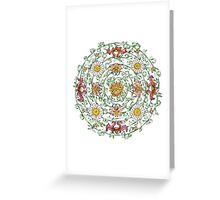 Floral mandala in Chinese style Greeting Card