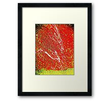 Making A Splash Two- Unique Abstract Art Framed Print