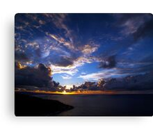 Sunset Over Smith Point And North West Point Canvas Print