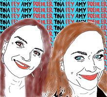 Tina Fey & Amy Poehler  by Lauraptor