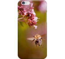 Flying bumblebee taking nectar iPhone Case/Skin