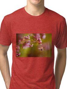 Flying bumblebee taking nectar Tri-blend T-Shirt