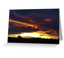 Angry sunset Greeting Card