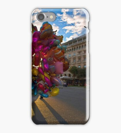 BALLOONS COLORFUL CITY SQUARE PLAZA iPhone Case/Skin
