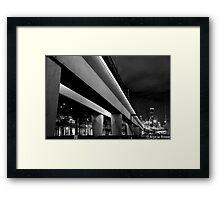 Flinders St rail way bridge Framed Print