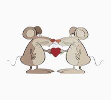 Mice couple One Piece - Long Sleeve