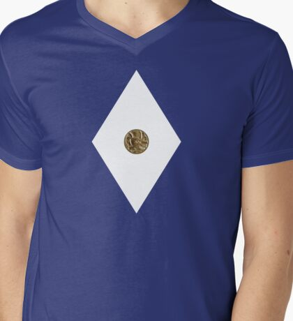 Triceratops Power Coin - Mighty Morphin Power Rangers - Cosplay Mens V-Neck T-Shirt