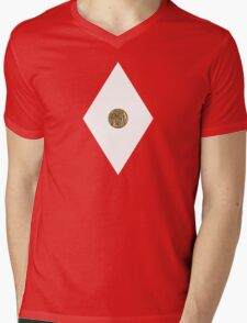 Sabretooth Tiger Power Coin - Mighty Morphin Power Rangers - Cosplay Mens V-Neck T-Shirt